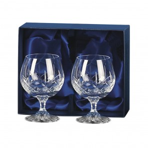 Crystal Brandy Snifters Pair