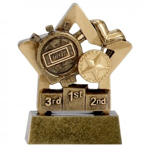 3 Inch Gold Mini Star Swimming Award