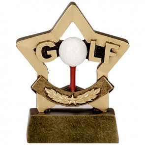 3 Inch Mini Star Golf Award