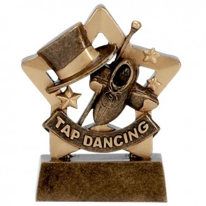 3 Inch Mini Star Tap Dancing Award
