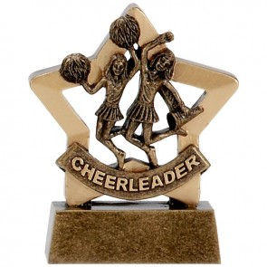 3 Inch Mini Star Cheer-Leading Award