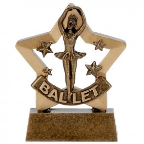 3 Inch Mini Star Ballet Award