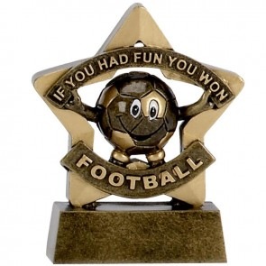 3 Inch Mini Star Football Resin Award