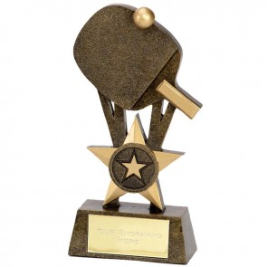 6 Inch Pinnacle Table Tennis Award