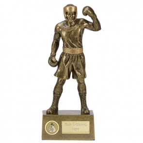 10 Inch Victorious Boxer Boxing Knockout Statue