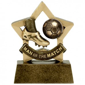 Man of the match Football Mini Star Award