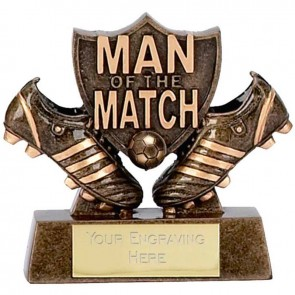 3 Inch Man Of The Match Football Boot Award
