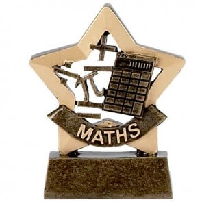 3 Inch Mini Star Maths Award