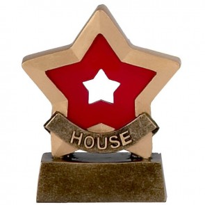 3 Inch Red House School Mini Star Award