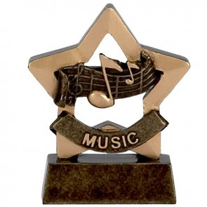 3 Inch Mini Star Music Award