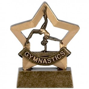 3 Inch Mini Star Female Gymnastics Award