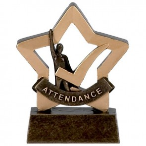 3 Inch Mini Star Attendance Award