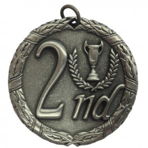 50mm Silver Laurel 2Nd Place Medal