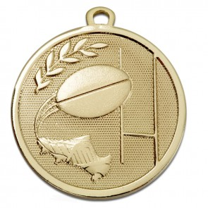 45mm Gold Goal Kick Rugby Galaxy Medal