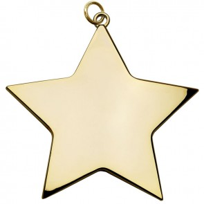 7cm Gold Small Star Medal