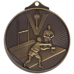 52mm Bronze Horizon Rugby Medal