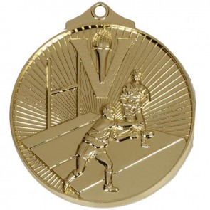 52mm Gold Horizon Rugby Medal