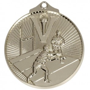 52mm Silver Horizon Rugby Medal