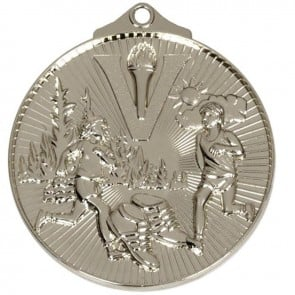 52mm Silver Horizon Cross Country Medal
