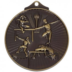 52mm Bronze Horizon Track And Field Medal