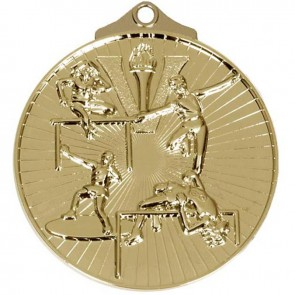 52mm Gold Horizon Track And Field Medal