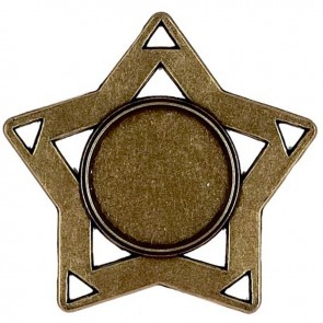 60mm Mini Star Bronze Medal