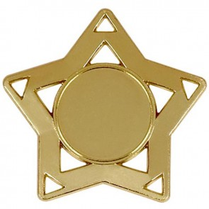 60mm Gold Mini Star Medal