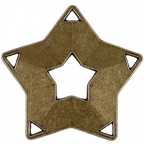 60mm Bronze Simple Mini Star Medal