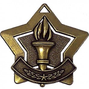60mm Bronze Mini Star Victory Medal