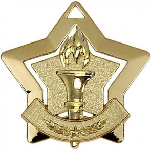 60mm Gold Mini Star Victory Medal