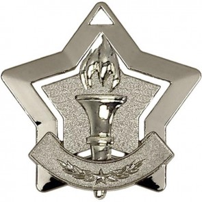 60mm Silver Mini Star Victory Medal