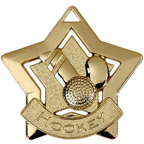 60mm Gold Mini Star Hockey Medal