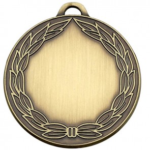 50mm Classic Wreath Bronze Medal