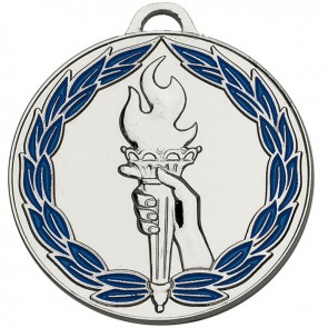 50mm Silver Classic Torch Winners Medal