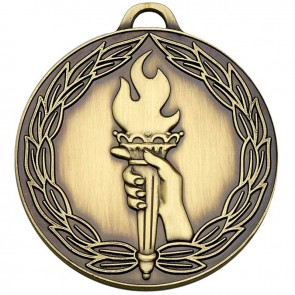 50mm Classic Bronze Torch Medal