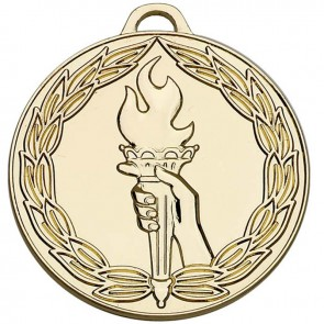 50mm Classic Torch Gold Medal