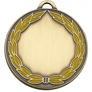 50mm Classic Bronze Wreath Medal