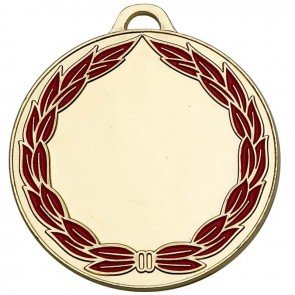 50mm Classic Wreath Gold Medal