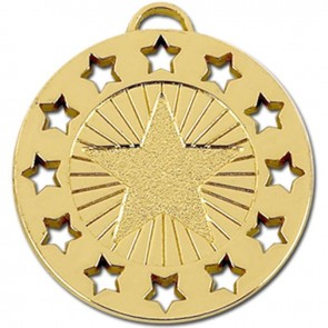 40mm Constellation Gold Coloured Medal