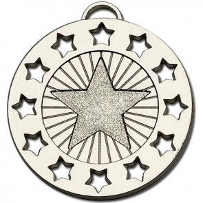 40mm Constellation Silver Coloured Medal