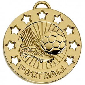 40mm Spectrum Football Gold Medal