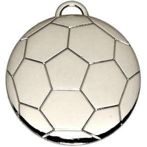 40mm Silver Football Medal