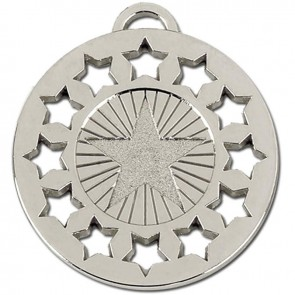 40mm Silver Constellation Medal