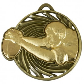 50mm Gold Try Rugby Vortex Medal