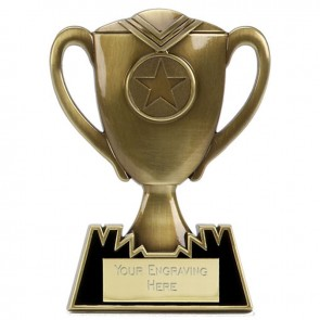 5 Inch Bronze Meal Cup Multi Award