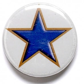 1 Inch Blue Star Pin Badge