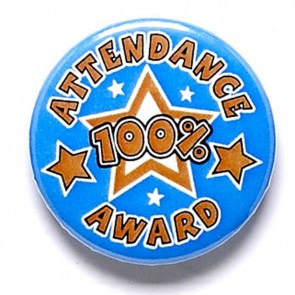 1 Inch Attendance Pin Badge