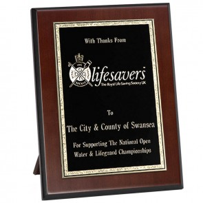 8 Inch Black Rectangle Presentation Plaque