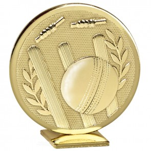 Free Standing Gold Cricket Global Medal