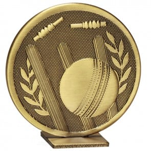 Free Standing Bronze Cricket Global Medal